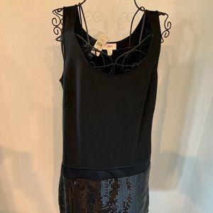 LOFT Dresses - Loft Black Sequin Dress